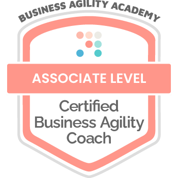 Certification Badge: Business Agility Academy, Certified Business Agility Coach - Associate Level