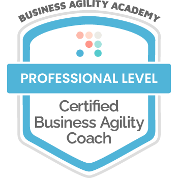 Certification Badge: Business Agility Academy, Certified Business Agility Coach - Professional Level
